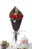 澳洲/紐西蘭皇后 +南非雜錦+11枝玫瑰 + 紅豆+ 襯葉