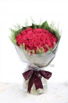 60枝玫瑰+葉材