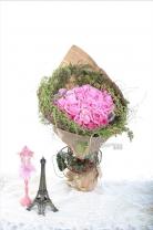 33枝玫瑰 + 荷蘭垂莧菜 +龍枊